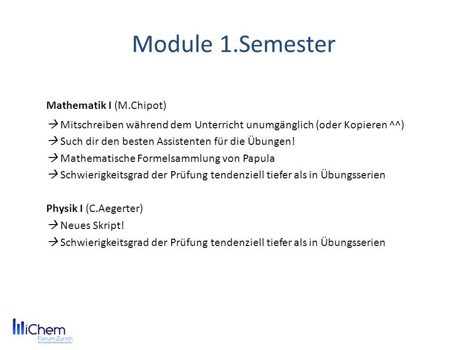 Module 1.Semester Mathematik I (M.Chipot)