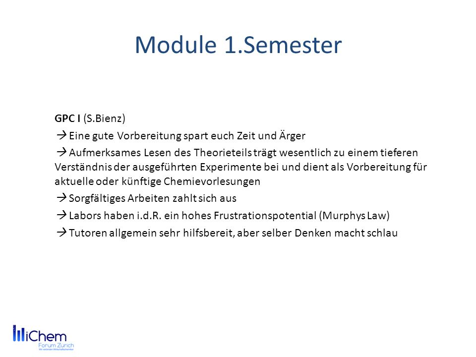 Module 1.Semester GPC I (S.Bienz)