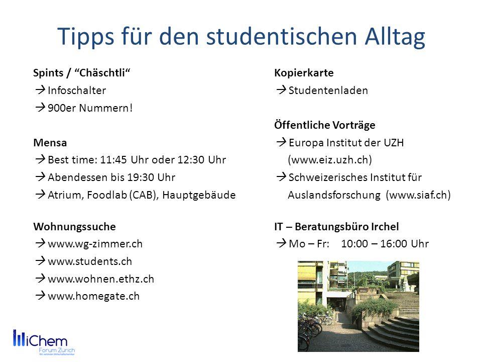 Tipps für den studentischen Alltag