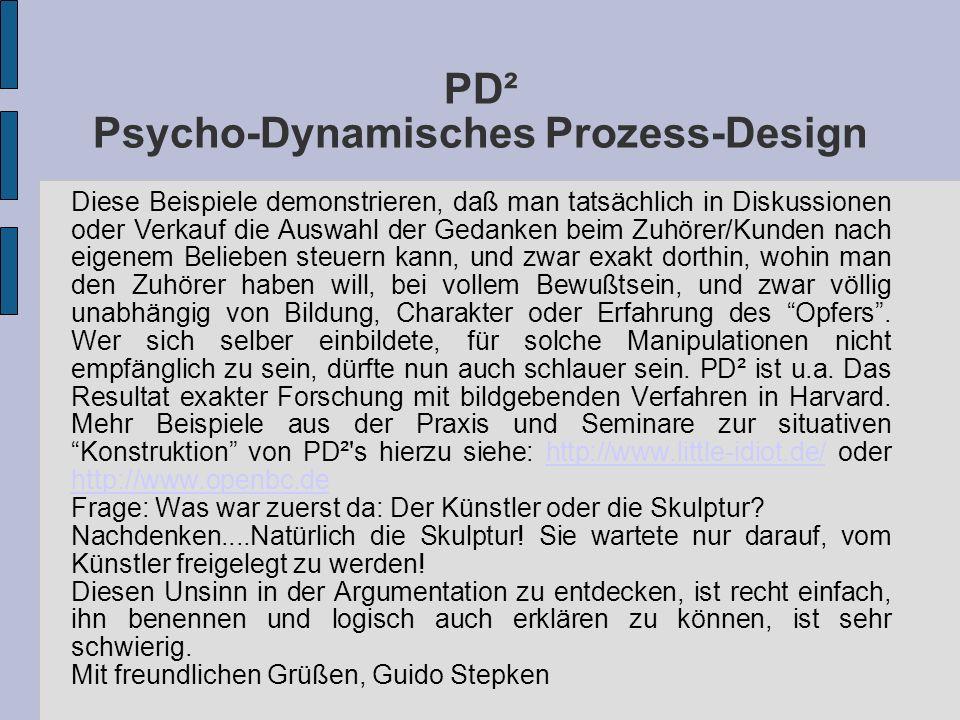 PD² Psycho-Dynamisches Prozess-Design