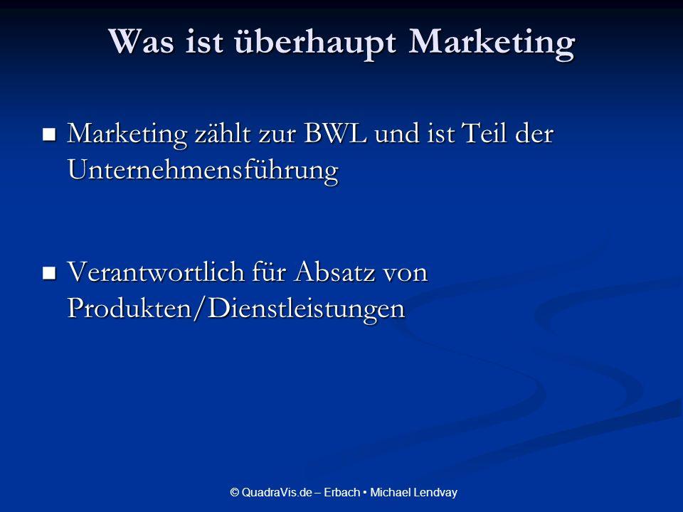 Was ist überhaupt Marketing