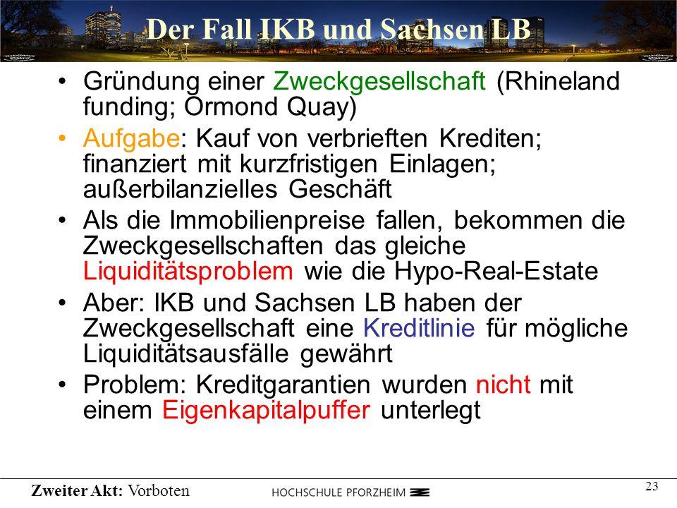 Der Fall IKB und Sachsen LB