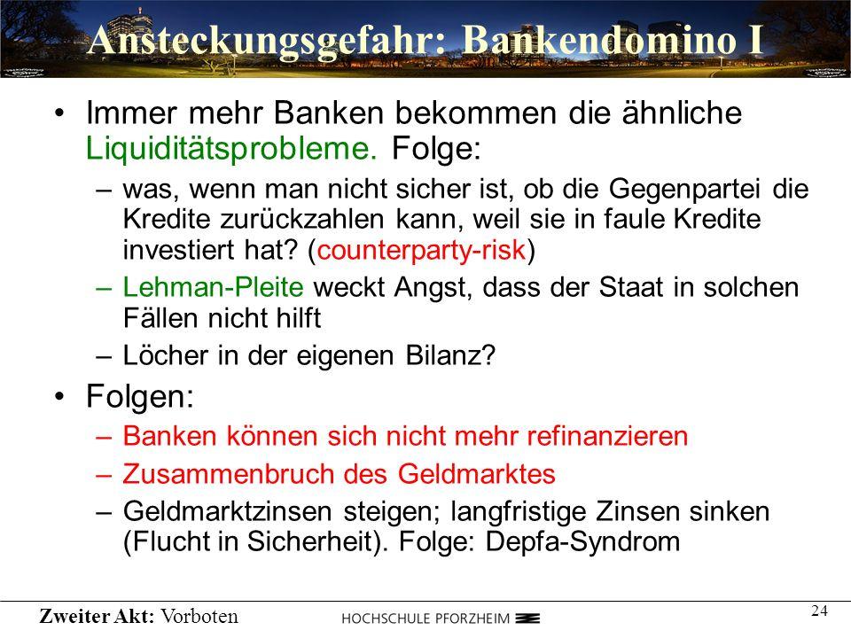 Ansteckungsgefahr: Bankendomino I