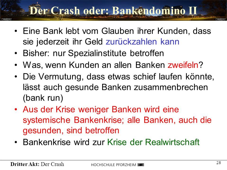 Der Crash oder: Bankendomino II