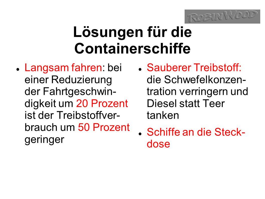 Lösungen für die Containerschiffe