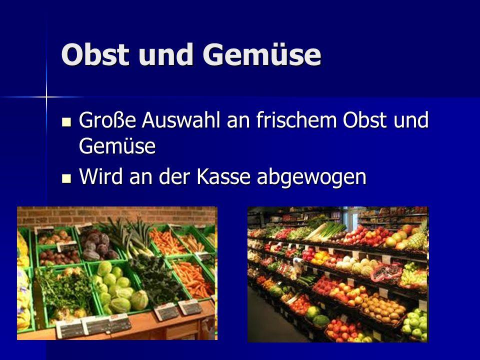Obst und Gemüse Große Auswahl an frischem Obst und Gemüse