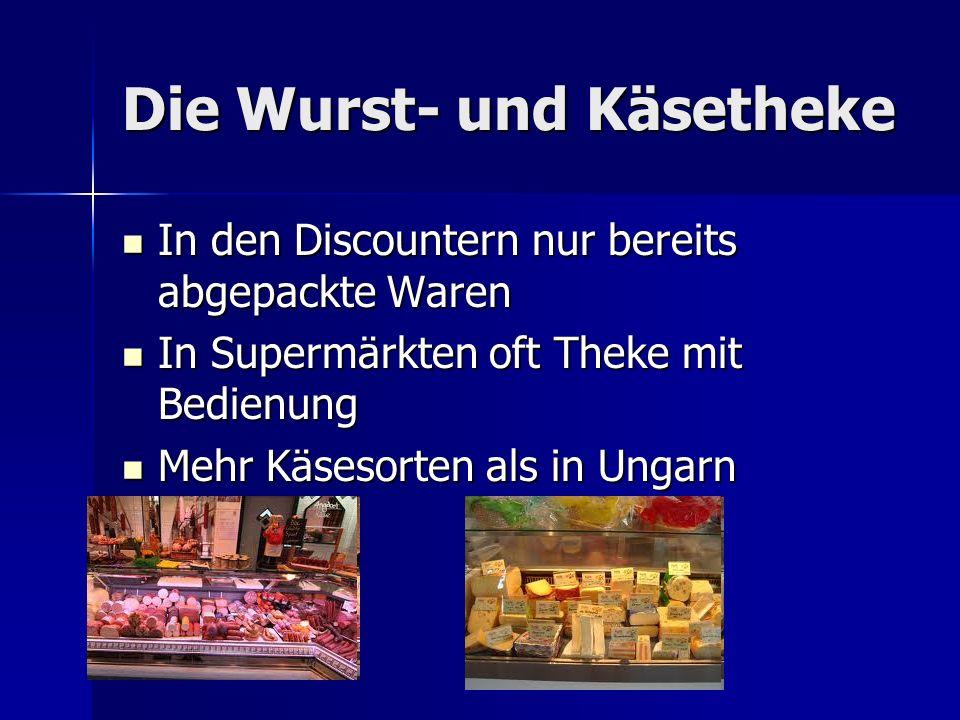 Die Wurst- und Käsetheke