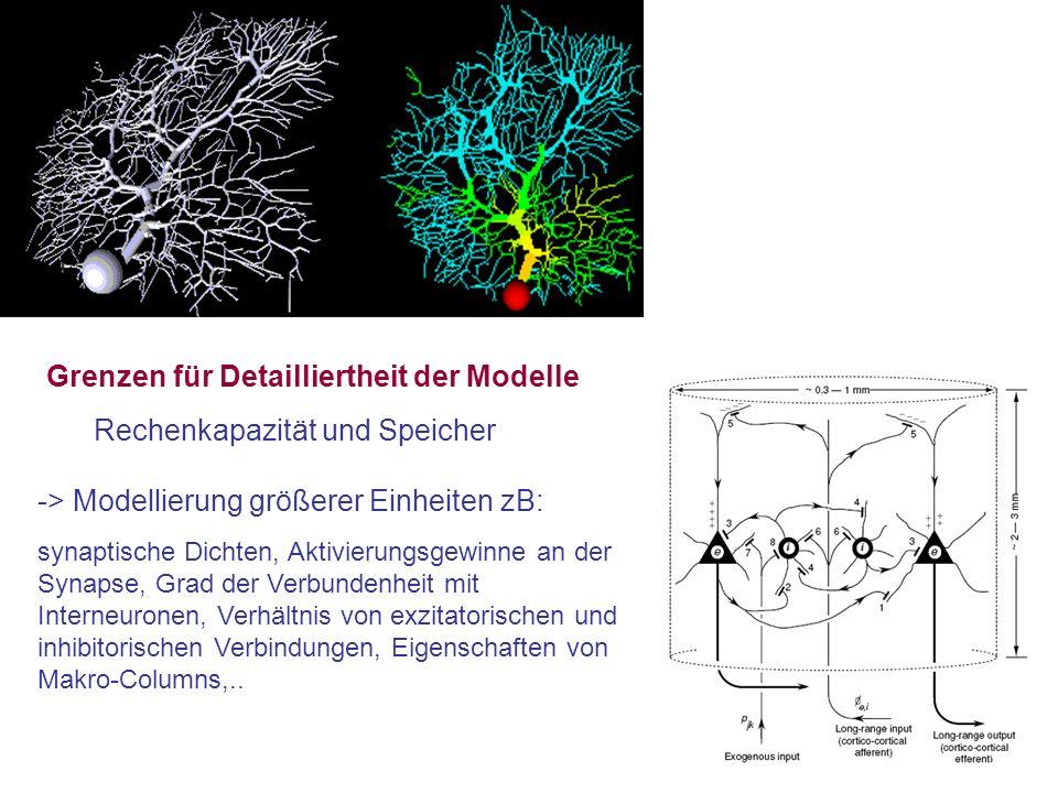 Grenzen für Detailliertheit der Modelle