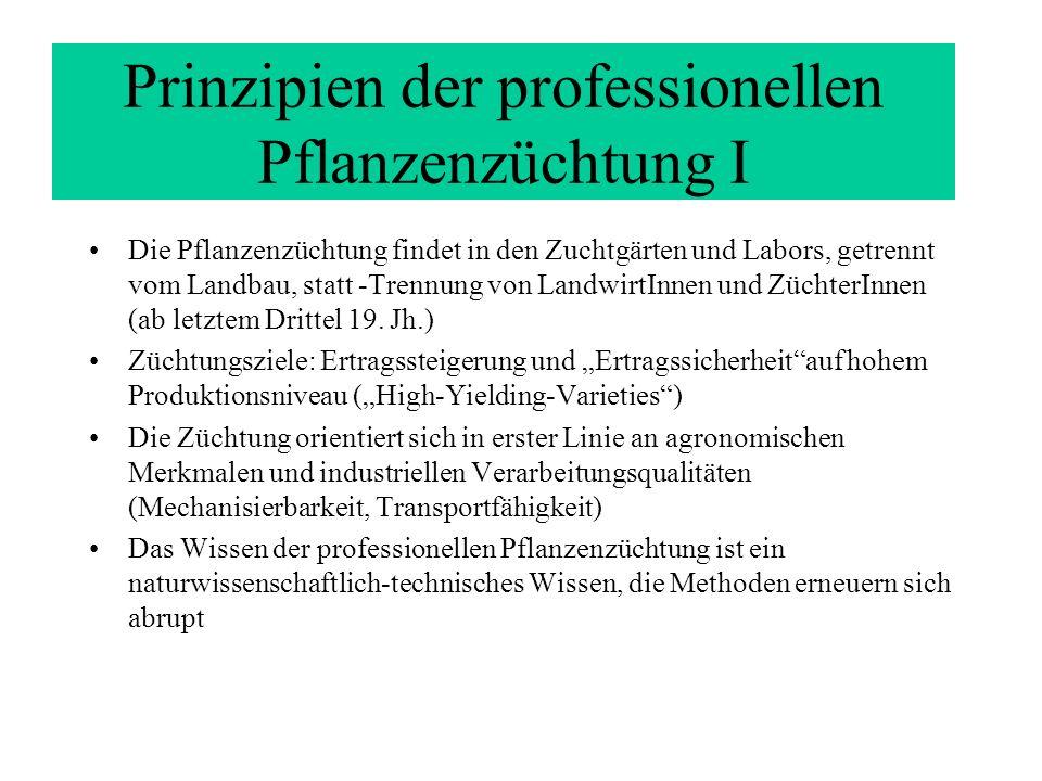 Prinzipien der professionellen Pflanzenzüchtung I