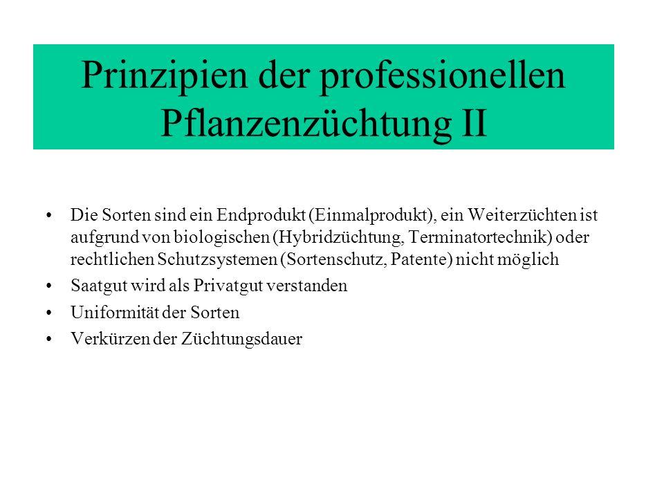 Prinzipien der professionellen Pflanzenzüchtung II