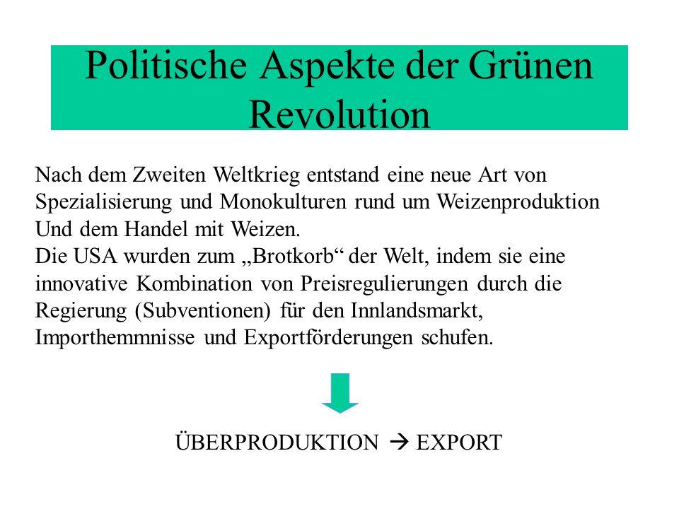 Politische Aspekte der Grünen Revolution