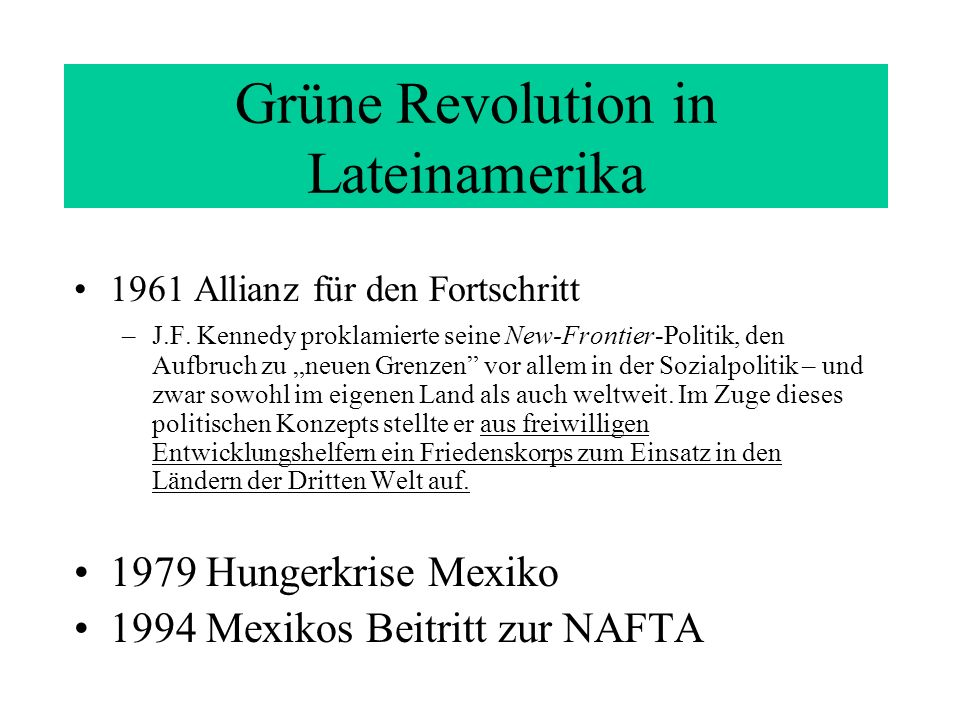 Grüne Revolution in Lateinamerika