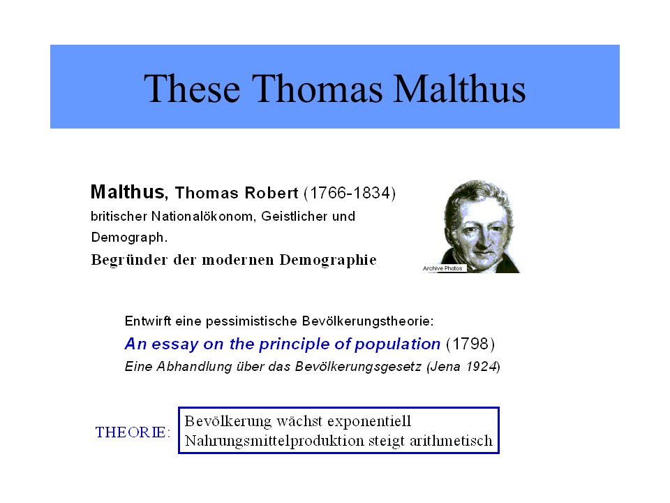These Thomas Malthus