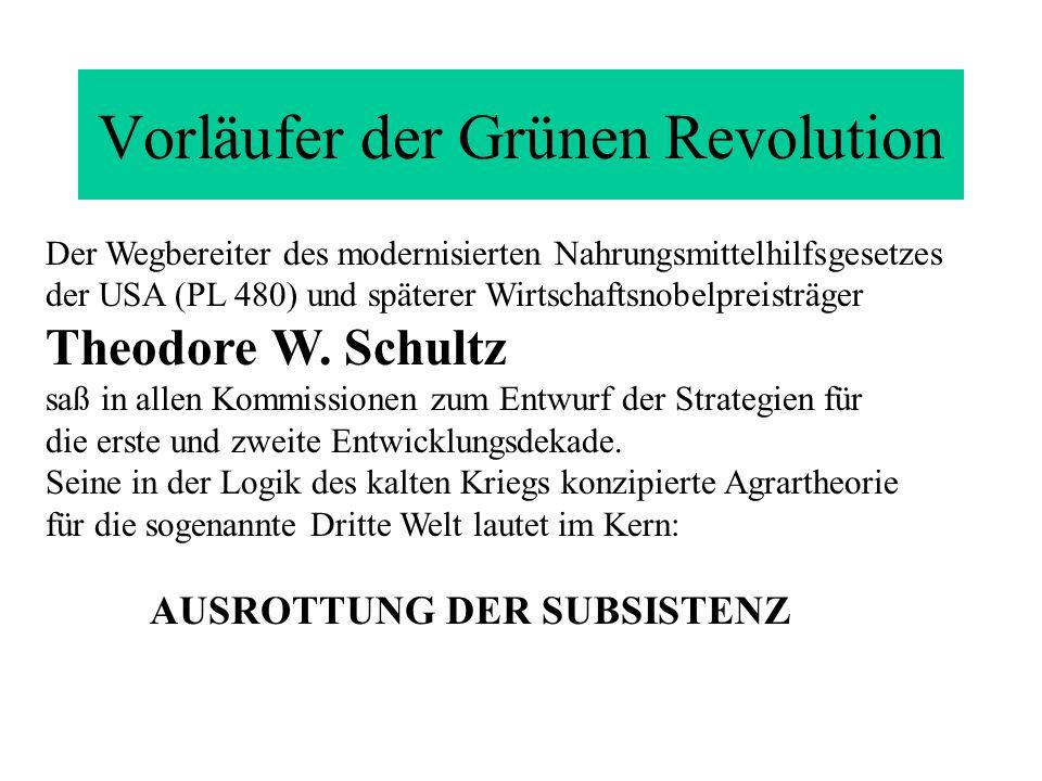 Vorläufer der Grünen Revolution