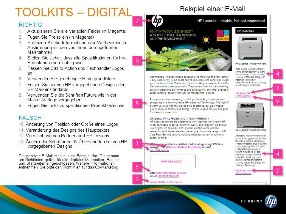 TOOLKITS – DIGITAL Beispiel einer E-Mail RICHTIG FALSCH 27