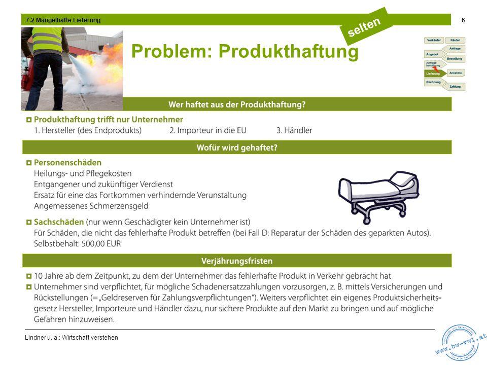 Problem: Produkthaftung