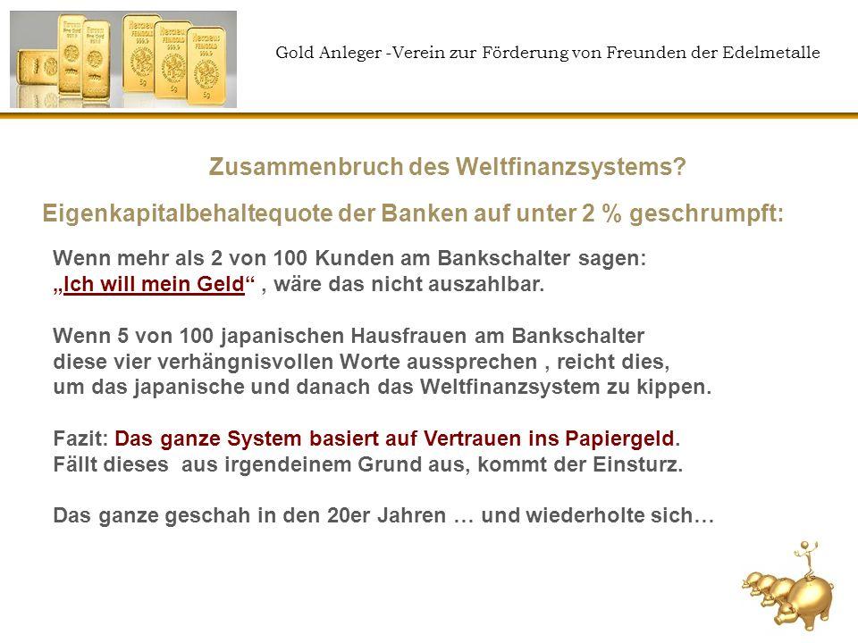 Zusammenbruch des Weltfinanzsystems