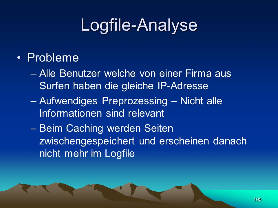 Logfile-Analyse Probleme