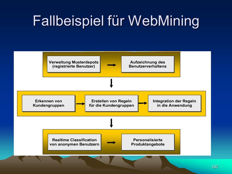 Fallbeispiel für WebMining