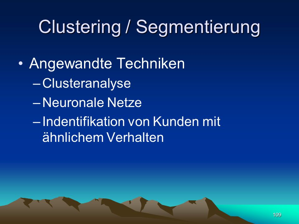 Clustering / Segmentierung