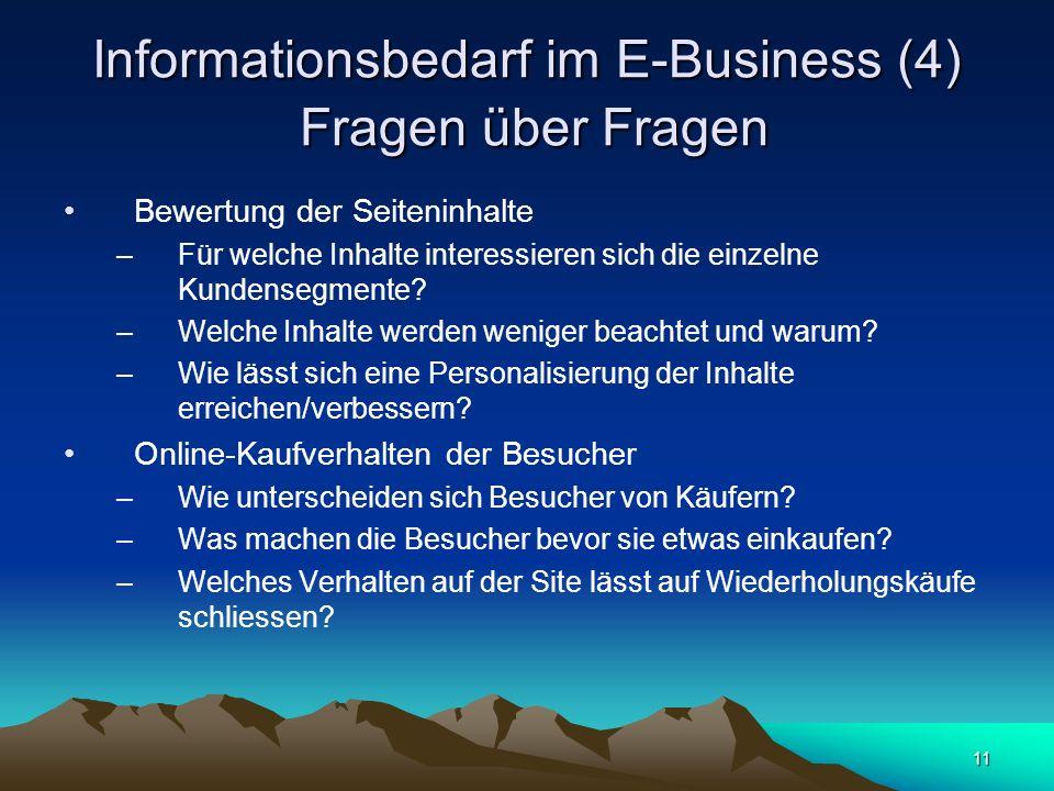 Informationsbedarf im E-Business (4) Fragen über Fragen