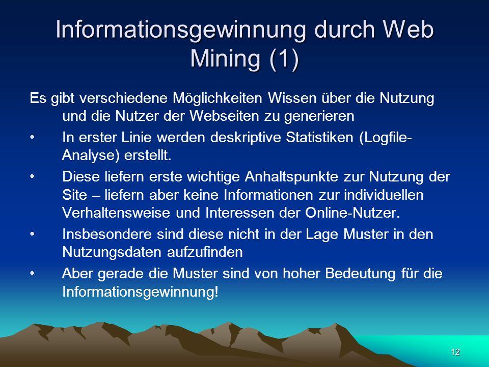 Informationsgewinnung durch Web Mining (1)