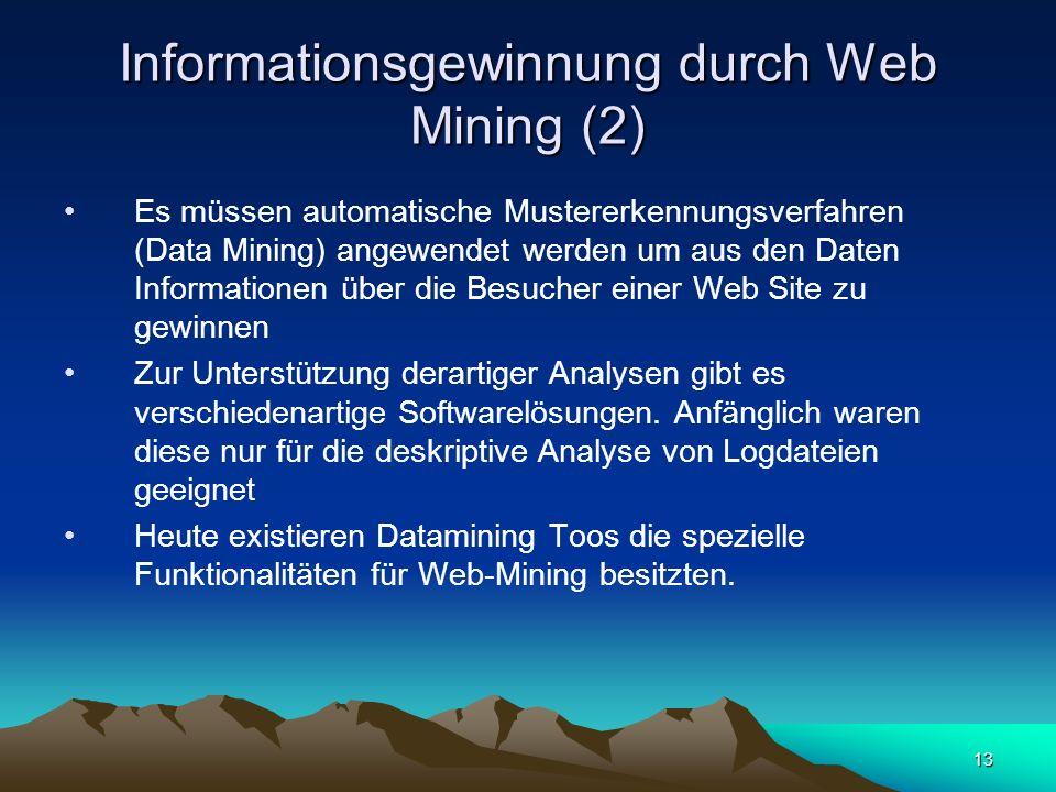 Informationsgewinnung durch Web Mining (2)