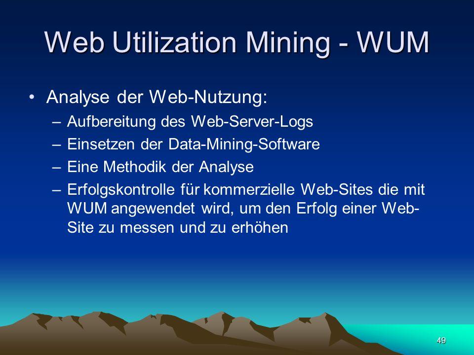 Web Utilization Mining - WUM