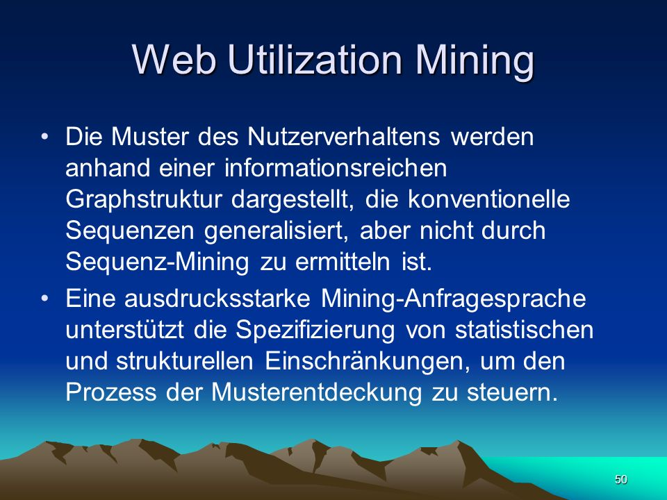 Web Utilization Mining