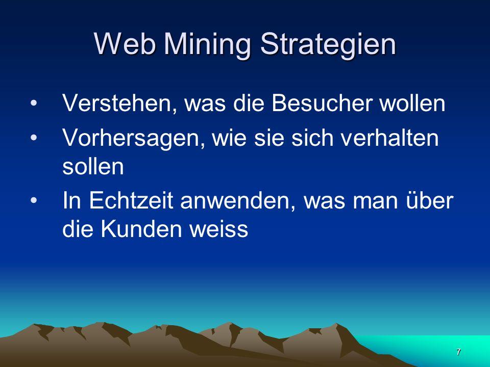 Web Mining Strategien Verstehen, was die Besucher wollen