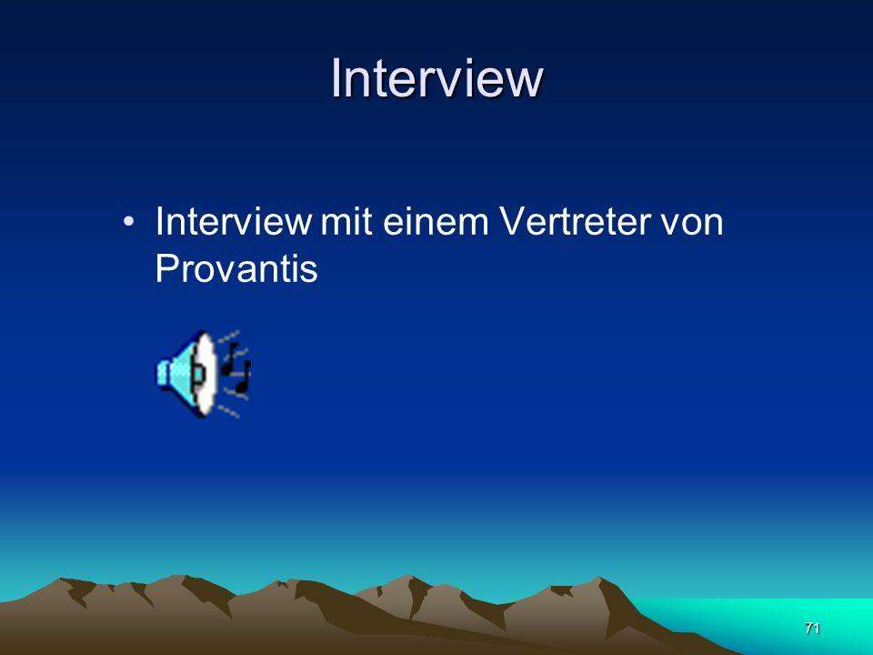 Interview Interview mit einem Vertreter von Provantis