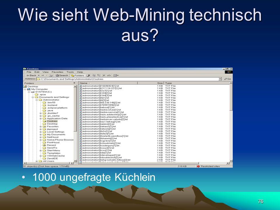Wie sieht Web-Mining technisch aus