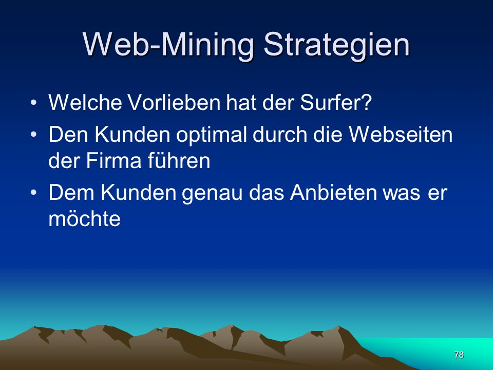 Web-Mining Strategien
