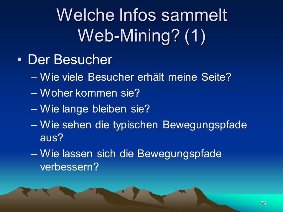 Welche Infos sammelt Web-Mining (1)