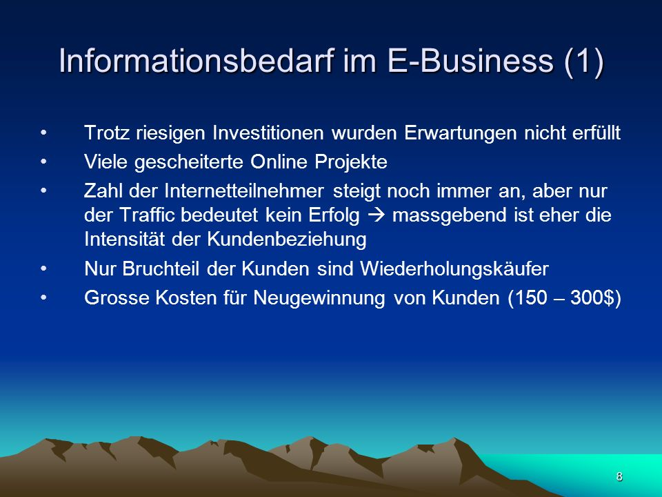 Informationsbedarf im E-Business (1)