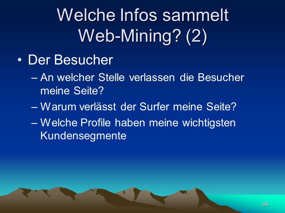 Welche Infos sammelt Web-Mining (2)