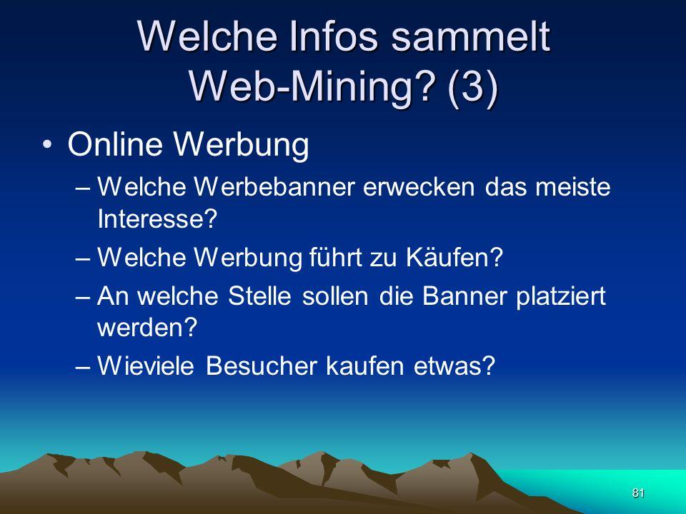 Welche Infos sammelt Web-Mining (3)