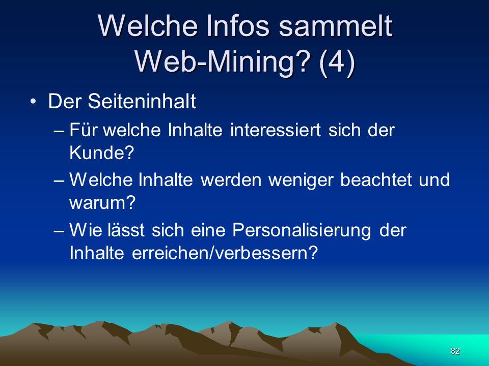 Welche Infos sammelt Web-Mining (4)