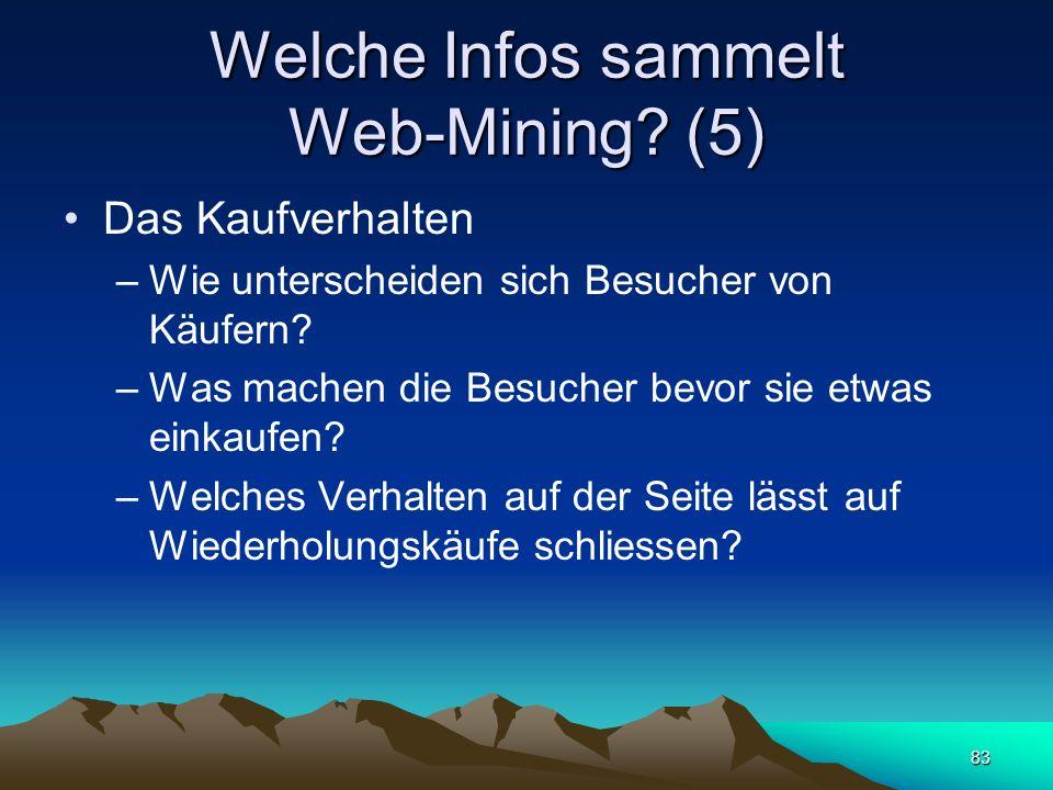 Welche Infos sammelt Web-Mining (5)