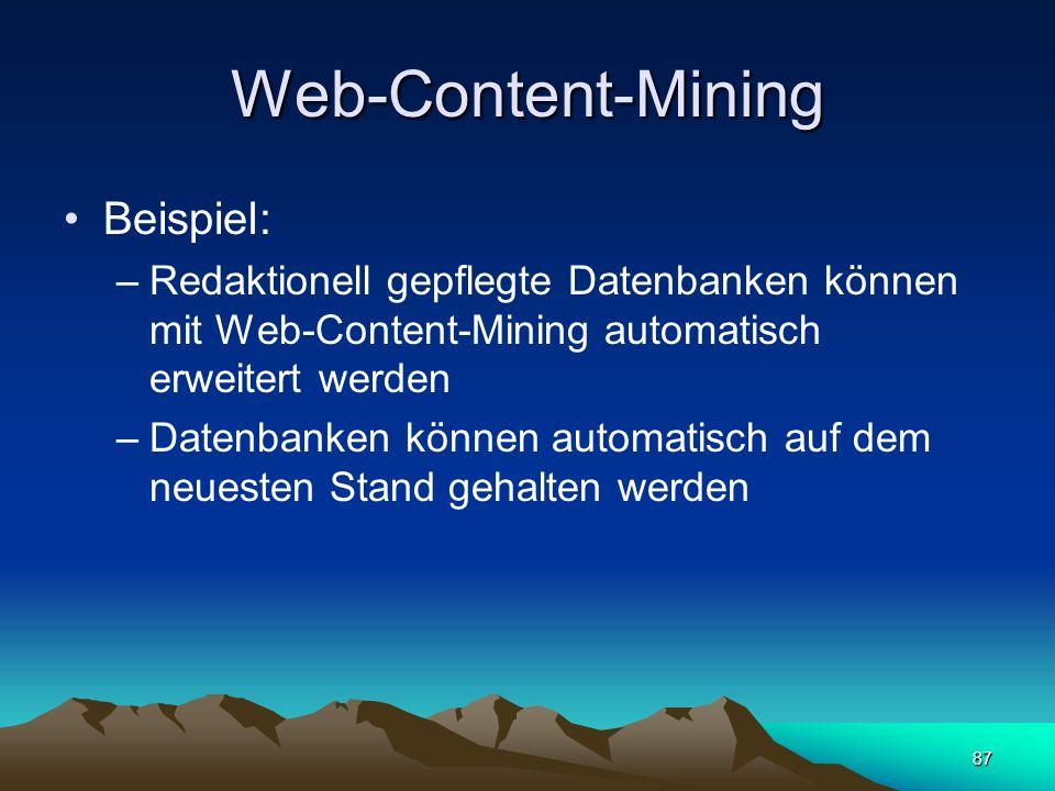 Web-Content-Mining Beispiel: