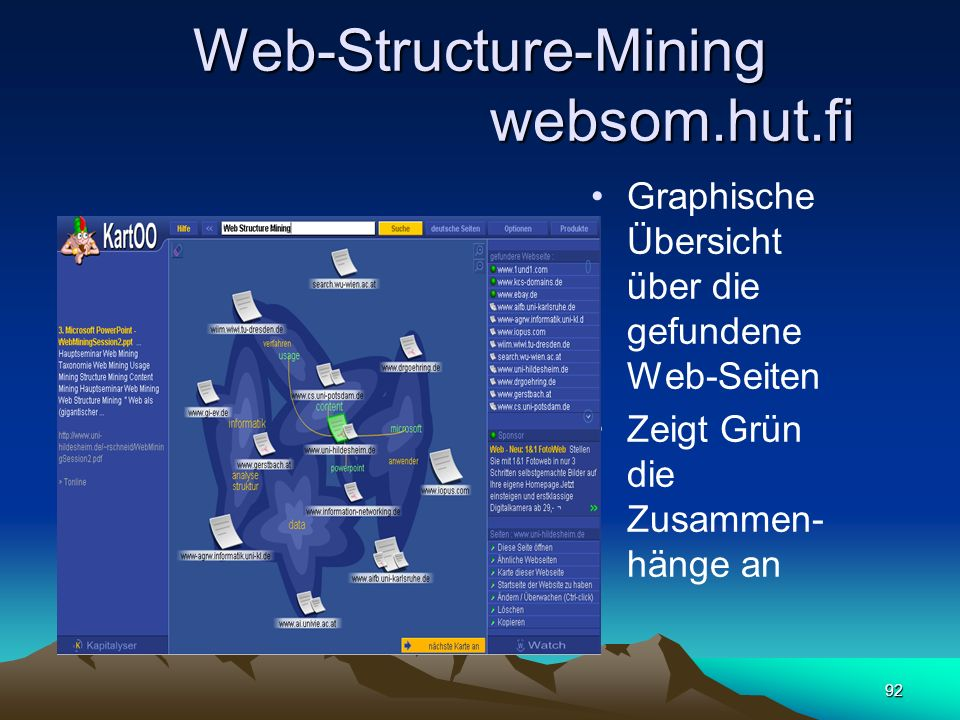 Web-Structure-Mining websom.hut.fi