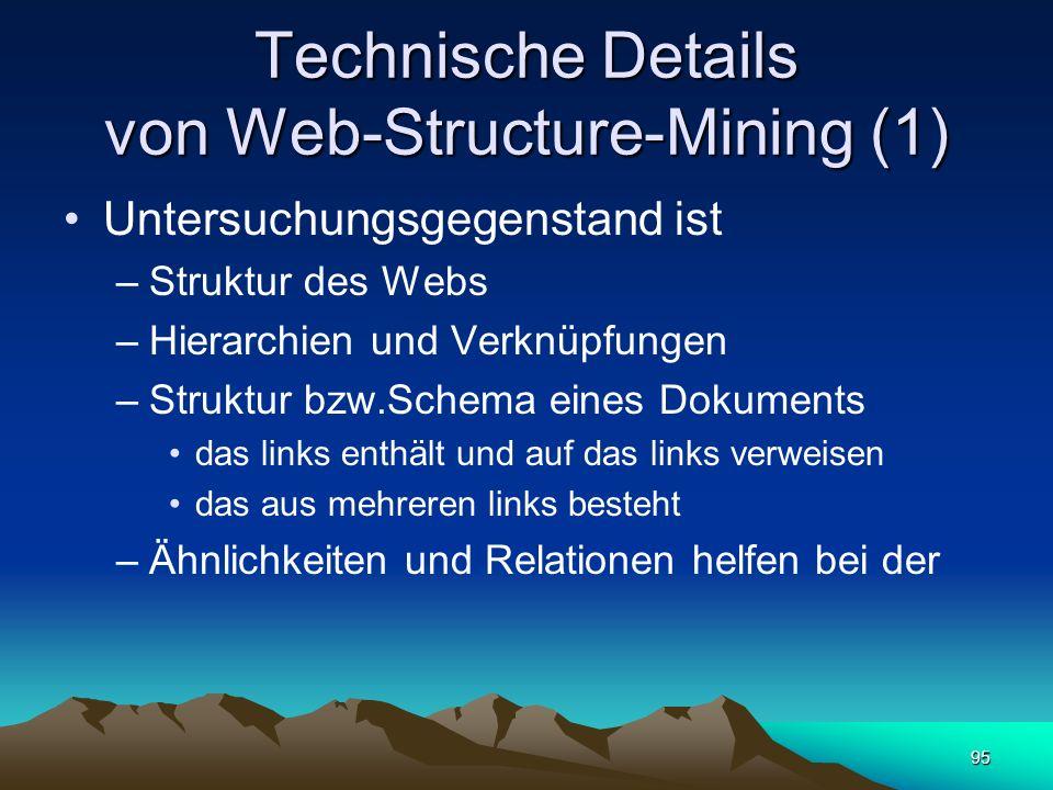 Technische Details von Web-Structure-Mining (1)