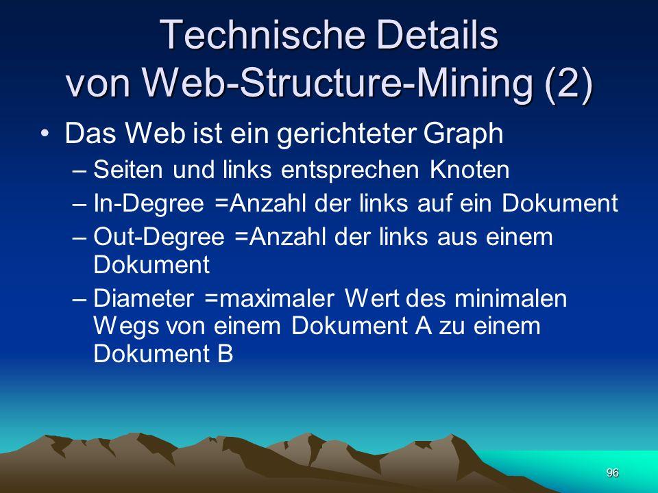 Technische Details von Web-Structure-Mining (2)