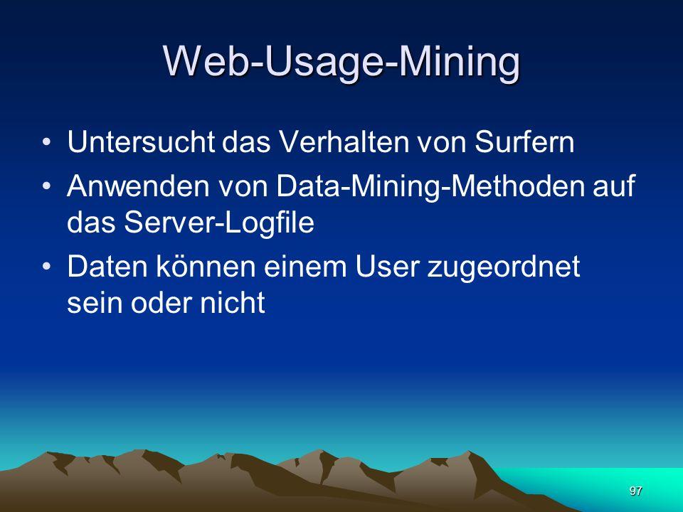Web-Usage-Mining Untersucht das Verhalten von Surfern