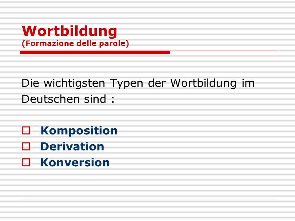 Wortbildung (Formazione delle parole)