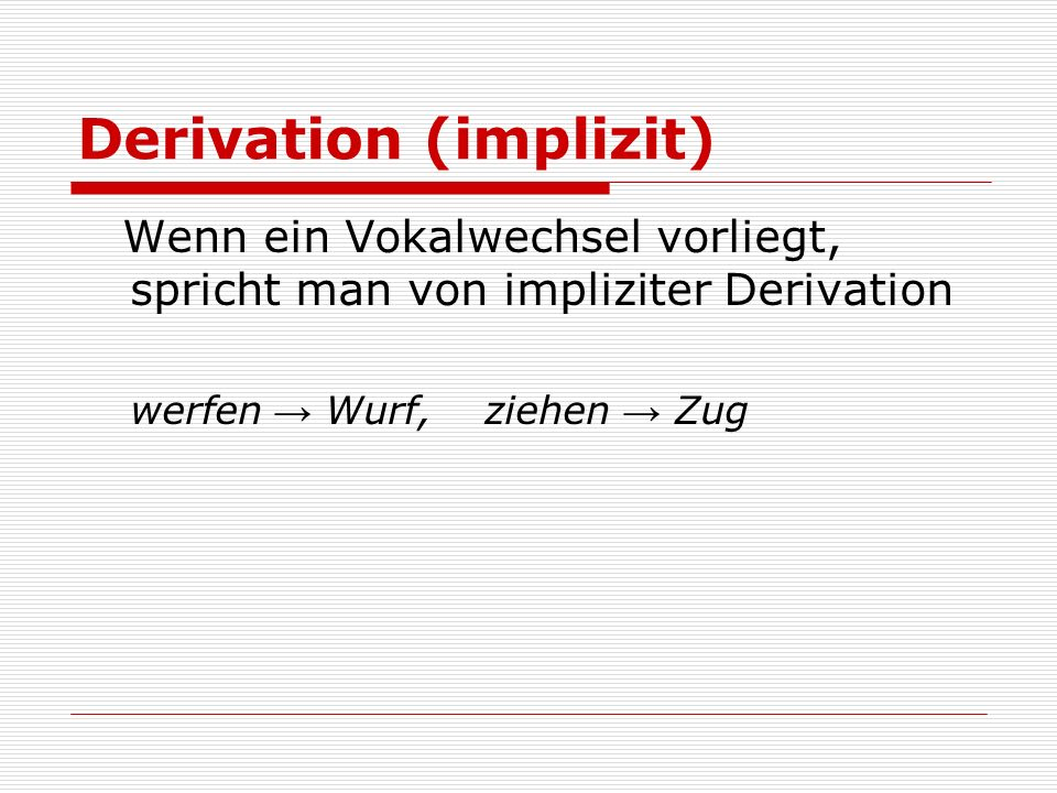 Derivation (implizit)