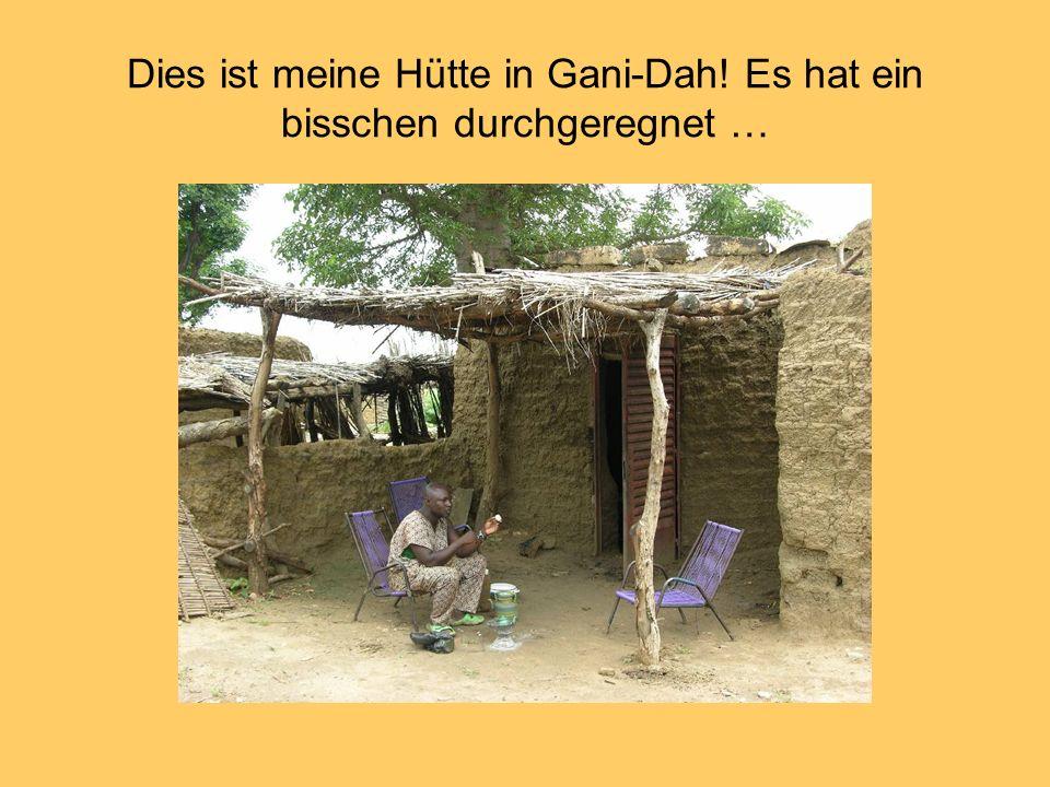 Dies ist meine Hütte in Gani-Dah! Es hat ein bisschen durchgeregnet …