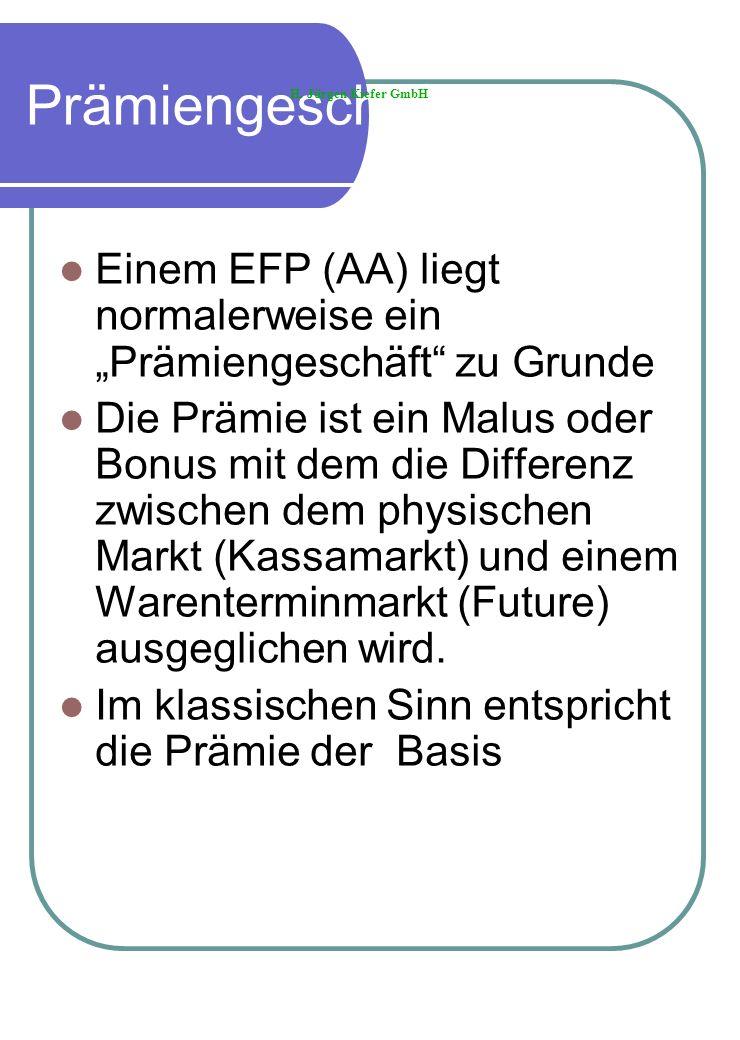 """PrämiengeschäftH. Jürgen Kiefer GmbH. Einem EFP (AA) liegt normalerweise ein """"Prämiengeschäft zu Grunde."""