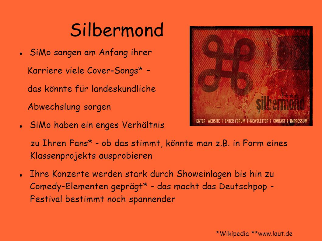 Silbermond SiMo sangen am Anfang ihrer Karriere viele Cover-Songs* –