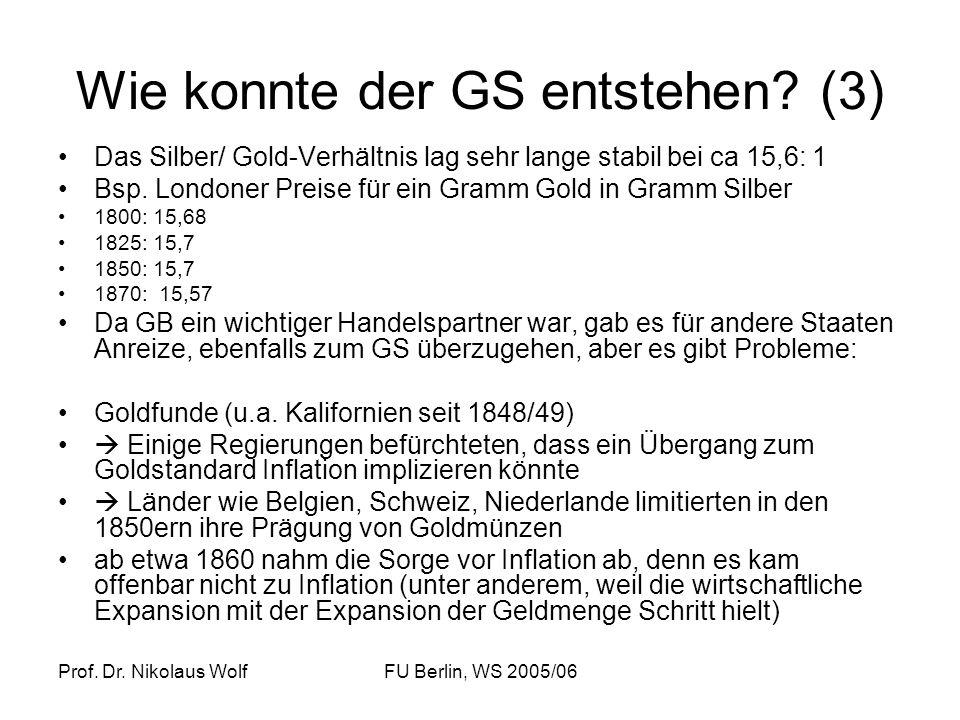 Wie konnte der GS entstehen (3)